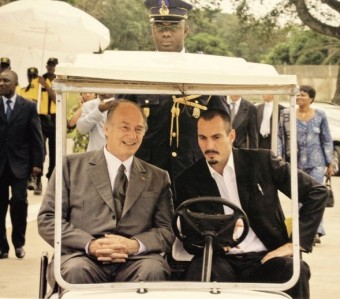 Mawlana Hazar Imam and Prince Rahim tour the Filtisac grounds Golden Jubilee visit to West Africa (Photo: The Ismaili Canada/Gary Otte)