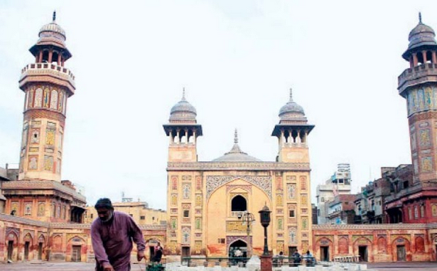 A view of the Wazir Khan Mosque. PHOTO FILE: ABID NAWAZ/EXPRESS