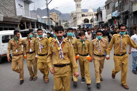 Ismaili Boy Scouts participates in cleanliness drive in Gilgit