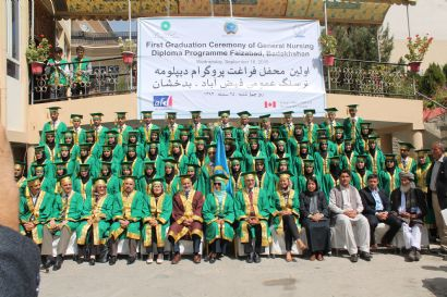 Aga Khan University's Programmes in Afghanistan: First Class of Nurses Graduates in Faizabad