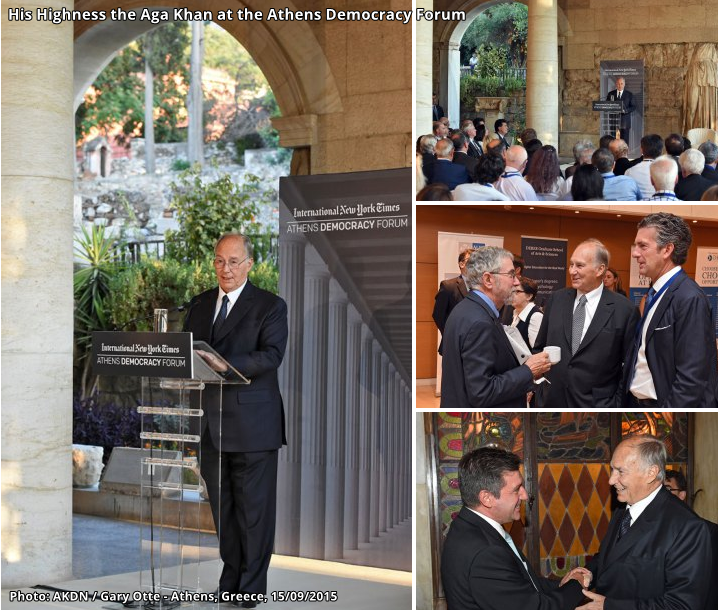 Photographs: His Highness the Aga Khan at the Athens Democracy Forum