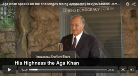 Video: Challenges facing democracy linked to quality of life, says Mawlana Hazar Imam | The Ismaili