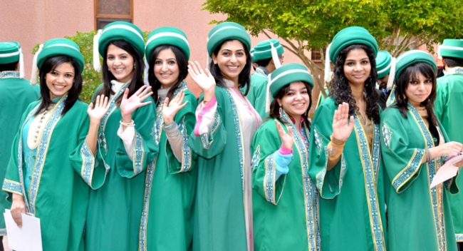 Graduates of Aga Khan University, ranked the best medical university in Pakistan's HEC ranking.