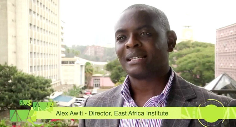 Dr. Alex Awiti of the Aga Khan University & East African Institute a the East Africa Dialogue Series