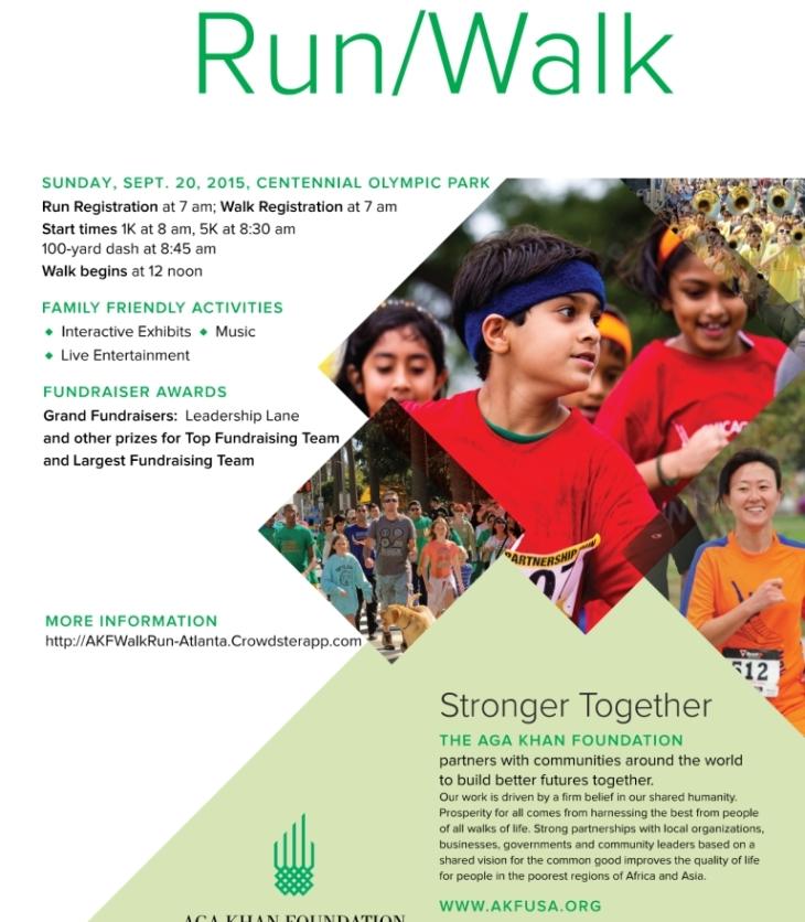 Aga Khan Foundation Run/Walk Atlanta, September 20, 2015