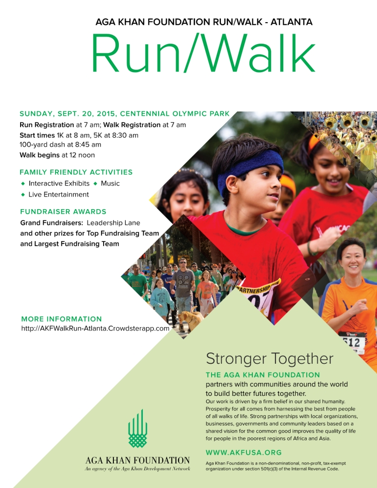 Aga Khan Foundation Run/Walk Atlanta, September 20, 2015