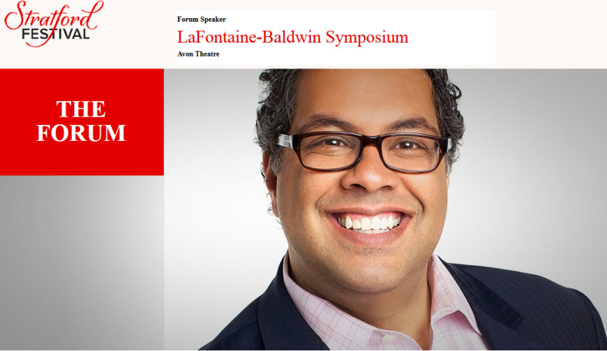 Calgary Mayor Naheed Nenshi delivers the 13th LaFontaine-Baldwin Symposium keynote on citizenship and the importance of inclusion alongside Adrienne Clarkson and John Ralston Saul