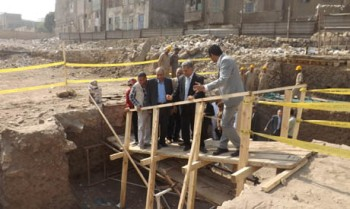 Original Fatimid wall possibly uncovered in Old Cairo's Gamaliya