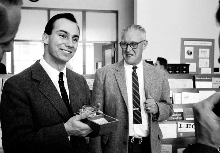 His Highness Prince Karim Aga Khan IV visiting the Los Alamos National Laboratory in 1959. (image credit: Los Alamos National Laboratory via Simerg)