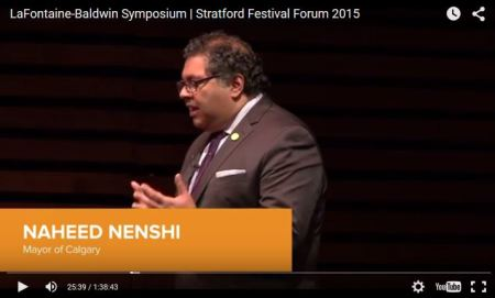 Naheed Nenshi - Video - LaFontaine-Baldwin Symposium