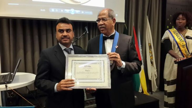 Mr. Rizwan Adatia – Chairman COGEF Group was awarded with diplomas by Rotary Club in the presence of Minister for Justice, appreciating the tangible and significant services to promote mutual understanding and friendly relations.