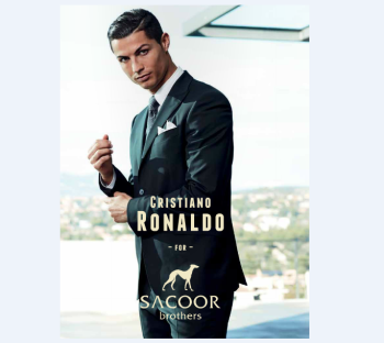 Sacoor Brother dress Soccer Superstar Christiano Ronaldo (image via POST Magazine pg 63/92)