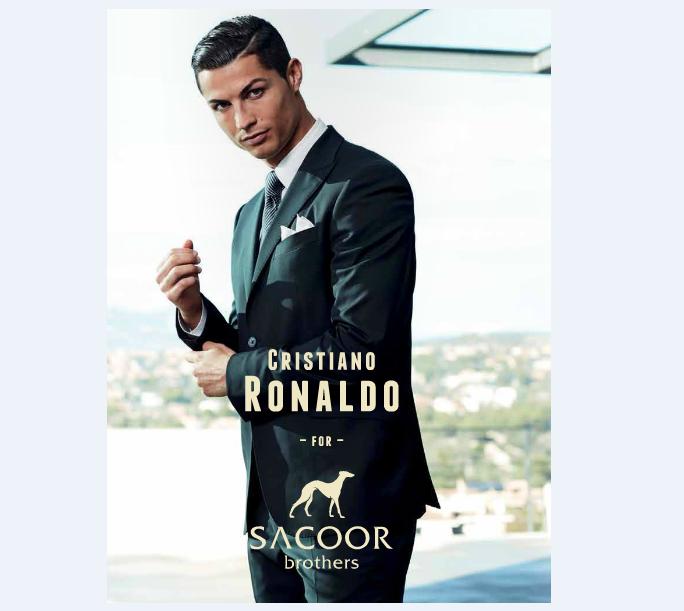 Sacoor Brother dress Soccer Superstar Christiano Ronaldo (image via POST Magazine pg 63/92)