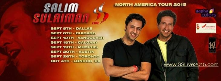 Salim Sulaiman North America Tour 2015 (PRNewsFoto/Live Concert World)
