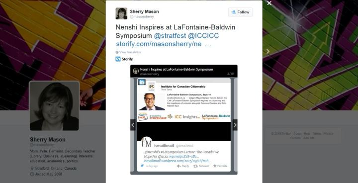 Sherry Mason - Nenshi Inspires at LaFontaine-Baldwin Symposium