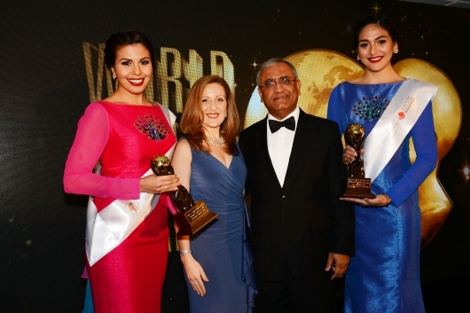 CEO Serena Hotels Mr. Aziz Boolani with host Kristen Evelyn Rossi (Image via Serena Hotels)