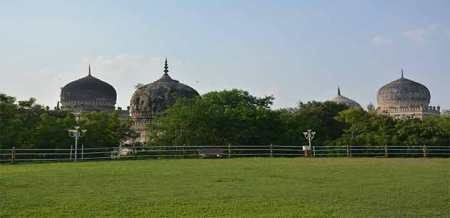 Deccan Park with Qutub Shahi Tombs in the background (Image credit: The Hans India)