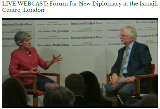 Forum for New Diplomacy at the Ismaili Centre, London