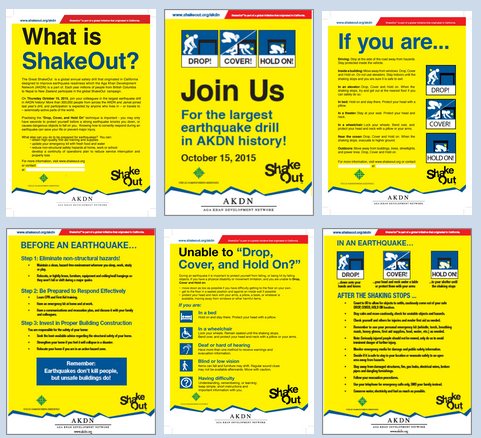 AKDN - Great Shakeout - Posters