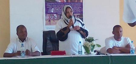 Hon. Salma addresses the participants during the International Day Of The Girl Child spearheaded by AKDN institutions (Image Credit: Coastweek)