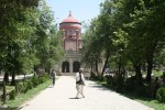 Restored by the Aga Khan Trust for Culture: Mausoleum of Amir 'Abd al-Rahman. Kabul, Afghanistan