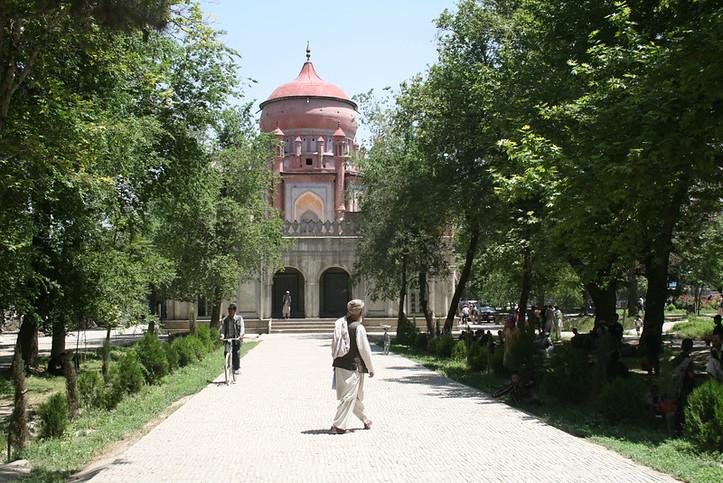 Restored by the Aga Khan Trust for Culture: Mausoleum of Amir 'Abd al-Rahman. Kabul, Afghanistan