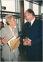 His Highness the Aga Khan with Professor Marianne Barrucand (Photo: AKDN)