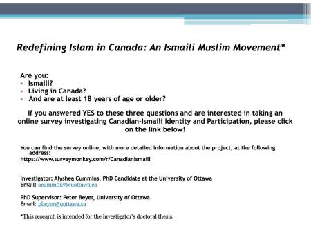 Canadian-Ismaili Identity and Practice