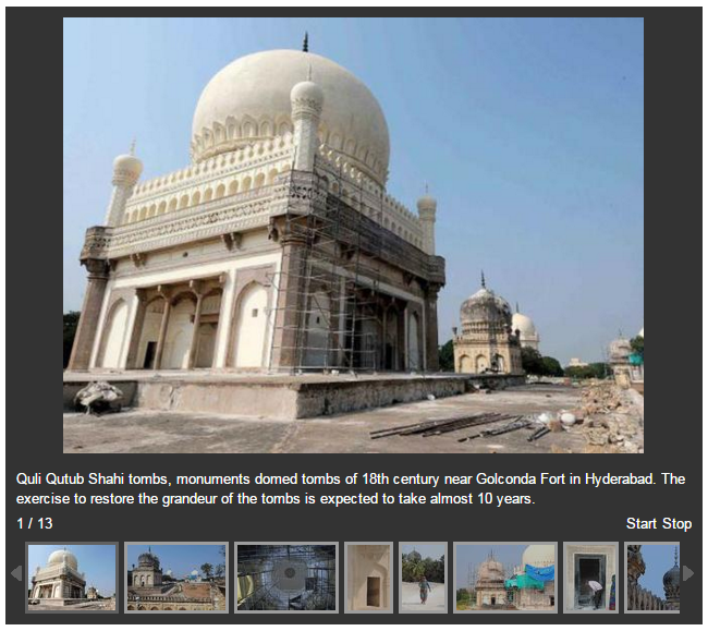 Restoration of Quli Qutub Shahi tombs by Aga Khan Trust for Culture (AKTC) (images credit: Mohammed Yousuf)