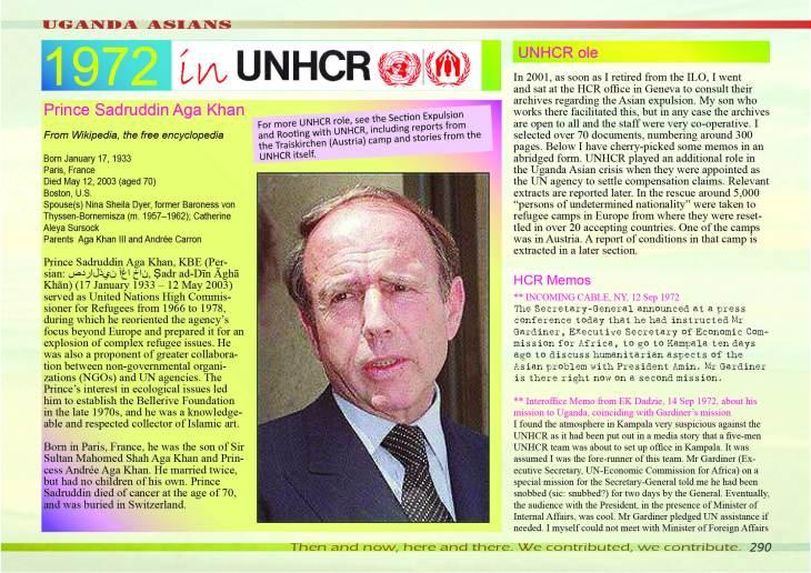 UNHCR - Prince Sadruddin Aga Khan