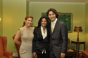 Almas Jiwani Congratulates Justin Trudeau on Real Change
