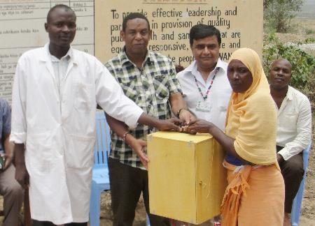 Supported by Aga Khan University's Department of Community Health, Mombasa, Kenya - Mwanda Dispensary receives a new Microscope