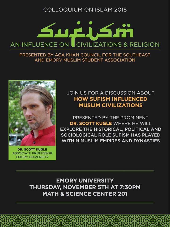 Aga Khan Council for the Southeast and Emory Muslim Student Association to host Dr. Scott Kugle