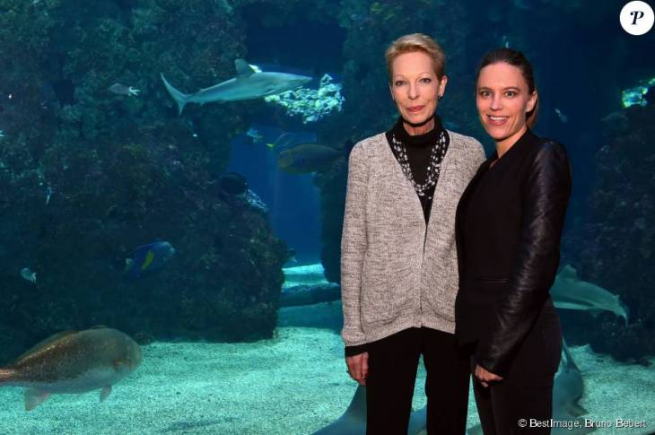 Begum Salimah Aga Khan and Elizabeth Hoag at the Blue Legacy Award Ceremony of the Prince Albert II of Monaco under the auspicious of Blue Ocean Film Festival 2015, 6 November 2015 at the Oceanographic Museum of Monaco. © Bruno Bebert / BestImage