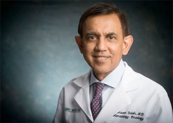 Principal investigator Dr. Mansoor Saleh, M.D., professor in the Division of Hematology/Oncology, Department of Medicine, and director of the UAB Phase 1 Clinical Trials Program. (Image via UAB)