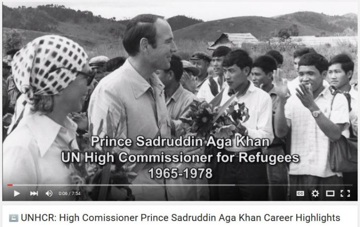 UNHCR: High Comissioner Prince Sadruddin Aga Khan Career Highlights