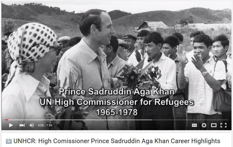 UNHCR: High Comissioner Prince Sadruddin Aga Khan Career Highlights