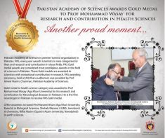 Aga Khan University Professors win Pakistan Academy of Sciences Awards