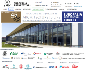 "AKAA Exhibition ""Architecture is Life"" featured at EUROPALIA focus on Turkey"