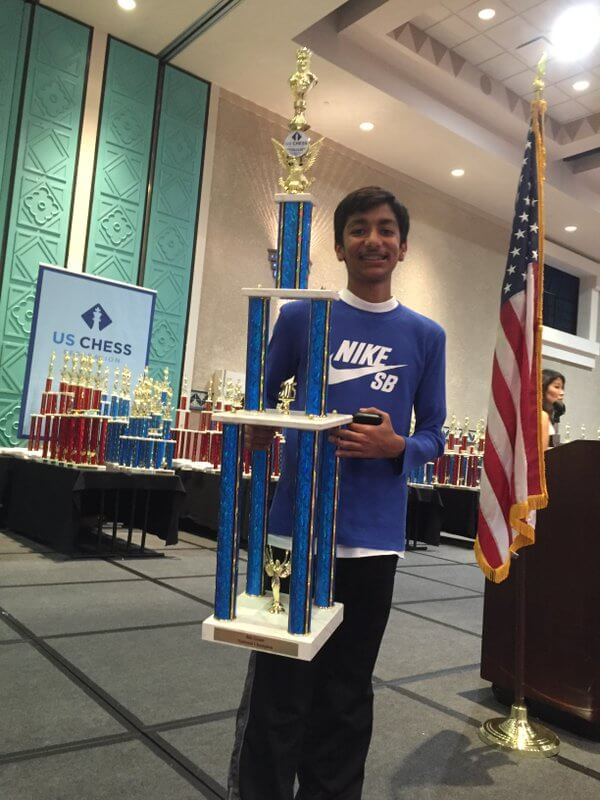 Chess National Master, Danial Asaia wins National K-12 Grade Championship