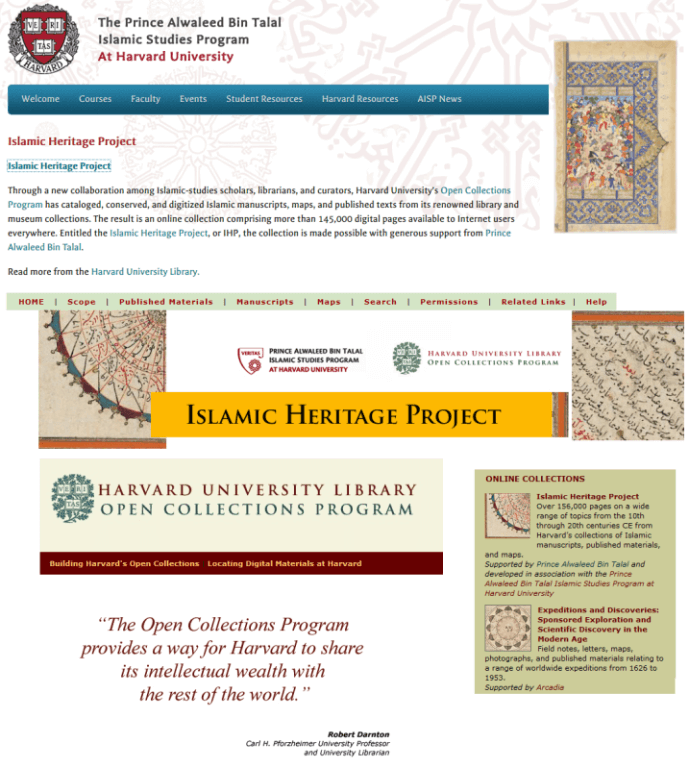 Islamic Heritage Project via Open Collections Program makes Harvard's Intellectual wealth available to the world