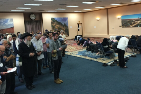 After tragedy, Muslims and Jews join in prayer