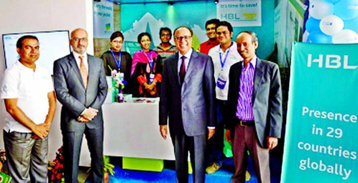 AKDN Resident Representative, Munir M Merali visits Habib Bank stall at Banking Fair Bangladesh 2015