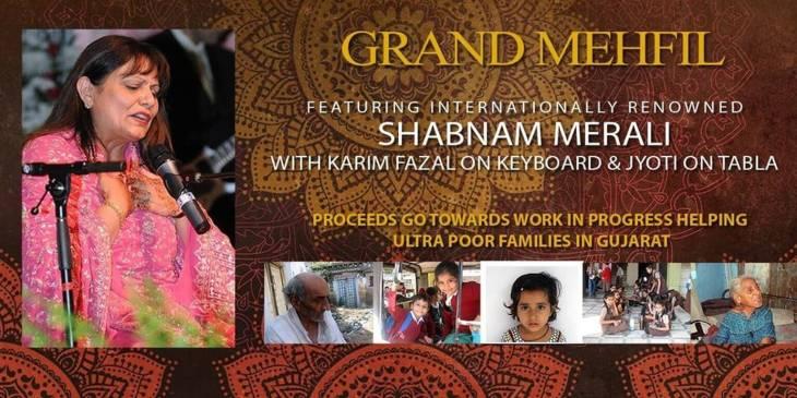 Grand Mehfil to feature Shabnam Merali