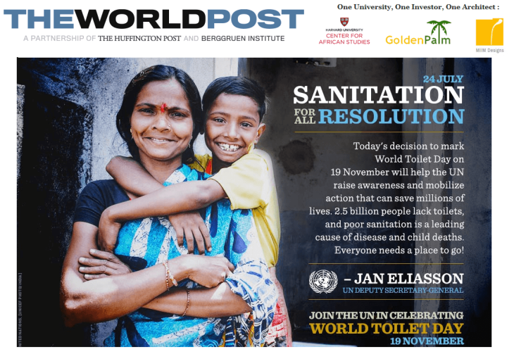 United Nation's World Toilet Day