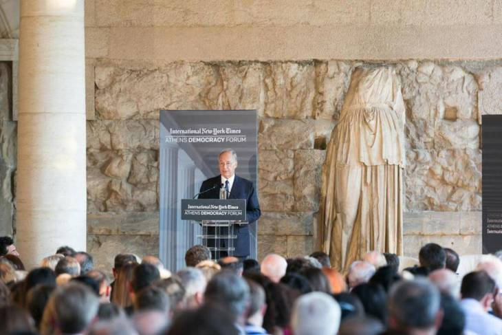 Earlier in the month of September 2015: HH the Aga Khan at Athens Democracy Forum. One Year Anniversary of AKM