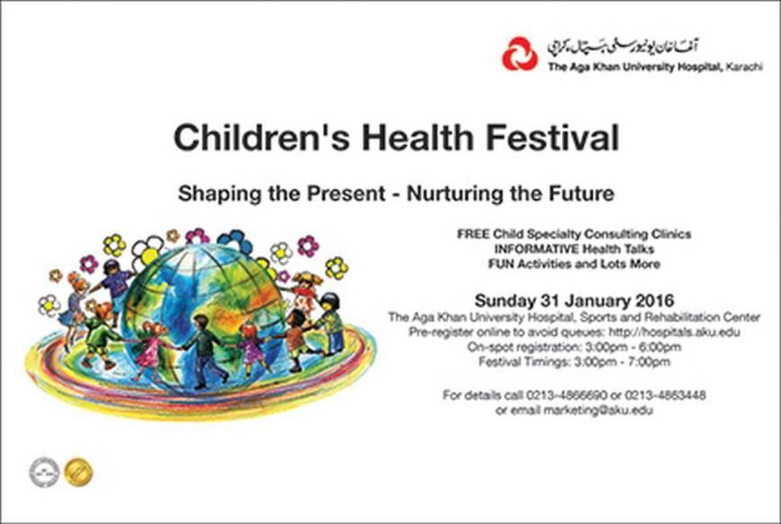 Children's Health Festival at the Aga Khan University Hospital, Karachi