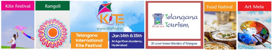 KITE 2016 - The First Telangana International Kite Festival underway at the Aga Khan Academy, Hyderabad