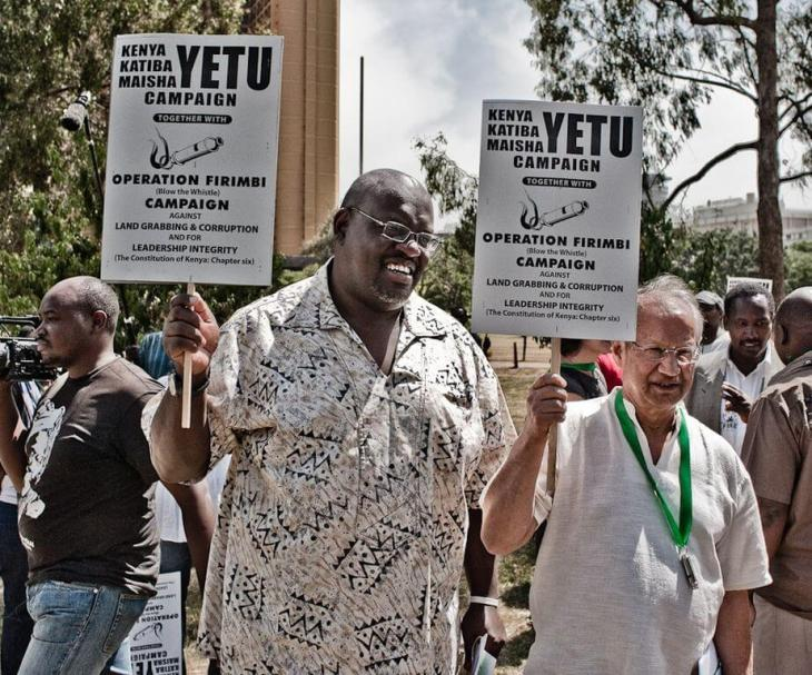 Sunday 9 January, 2011 at Freedom Corner, Nairobi sees Mr. John Githongo and Prof. Yash Pal Ghai issues statements at the Kenya Yetu. Katiba Yetu. Maisha Yetu Campaign.