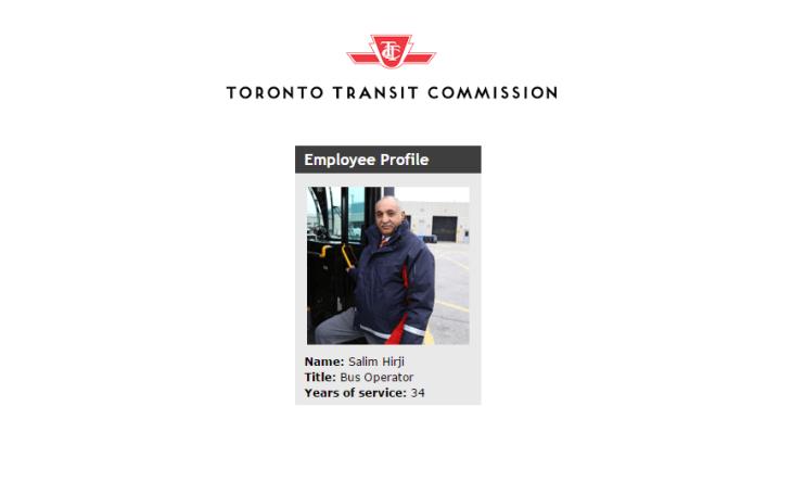 Employee Profile: Toronto Transit Commission Bus Operator Salim Hirji